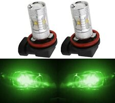 LED 30W H11 Green Two Bulbs Fog Light Replacement Plug Play Show Use Lamp