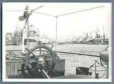 UK, London docklands   Vintage silver print. Vintage England  Tirage argentiqu