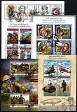 1ère Guerre Mondiale lot de 10 séries oblitérées en feuillet