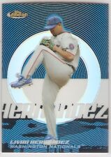 LIVAN HERNANDEZ BLUE REFRACTOR SERIAL #/299 2005 TOPPS FINEST 87 WASH NATIONALS