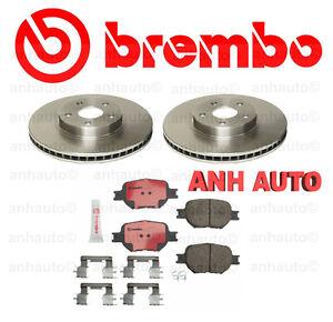 Genuine Brembo  Front Rotors + Brembo Front Brake Pads for Scion TC Celica