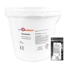 Well2wellness Acide Citrique Poudre 10 kg Monohydrate + 10g Cristaux de Menthol