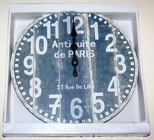 Wall Clock - Antiquite de Paris Design (30cm - Blue)