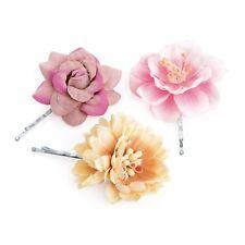FLOWER HAIR CLIP GRIPS SLIDES GIRLS/WOMEN KIRBY GRIPS FLOWER HAIRPIN FLOWER CLIP