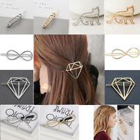 Fashion Cute Women Gold Silver Animal geometry Hairpin Clip Hair Accessories New