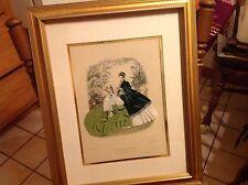 LA MODE ILLUSTREE 3 Dimension portrait shadow box frame real fabric #325