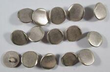 Metall  Knopf Knöpfe 15  stück  silber    15 mm groß   #1368#