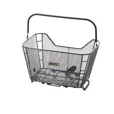 Sunlite Bicycle Rack Mount Mesh Basket with Quick Release Commuter Hybrid Bike