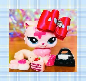 ❤️AUTHENTIC Littlest Pet Shop LPS 2532 Bubblegum Pink Flower Persian Kitty Cat❤️
