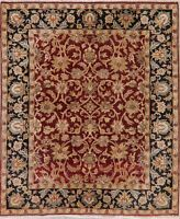 Oriental Agra Rug Hand-Knotted All Over Floral Wool Thick Rugs Carpet 8 x 10