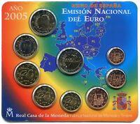 manueduc  ESPAÑA 2005 BLISTER OFICIAL FNMT EUROSET 9 Monedas con 2 EUROS QUIJOTE