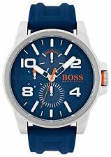 Hugo Boss Orange Blue Dial Silicone Strap Watch