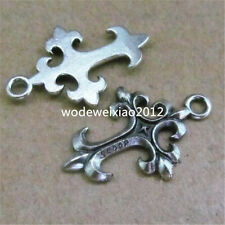 20pc Tibetan Silver Cross Charms Beads Pendant Jewellery Making Wholesale PL326