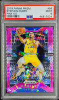 Stephen Curry 2019-20 Panini Prizm Pink Ice #98 PSA 9 MINT Golden State Warriors
