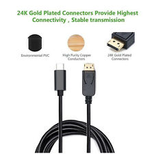 USB-C zum DisplayPort 4K 60Hz Kabel (Thunderbolt 3 Port kompatibel) - 3 Füße