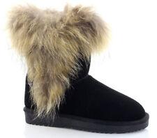 Damen Winterstiefel Winterschuhe Boots Echtes Leder Stiefel Stiefeletten Schuhe
