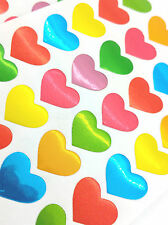 140pcs Love Hearts Stickers Multi Coloured kids Notes Diary School Scrapbook lot