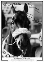 (100#) red rum signed b flrtcher g mccain t stack a4 photograph reprint grt gift