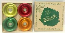 Unusual Coasters - Close-Ter - Set of 4 (Anodized Aluminum) In Original Box Nos