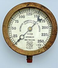 ANTIQUE 1920S ASHCROFT WATER SPRINKLER PRESSURE GAUGE AUTOMATIC SPRINKLER CORP