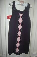 NWT GYMBOREE Prep School Navy Blue Jumper Dress 5 Argyle Apple Fall School NEW
