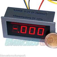VOLTMETRO DI PRECISIONE 0-2V (0-1.999mV) LED ROSSO DA PANNELLO [voltmeter dc kfz