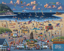 DOWDLE FOLK ART COLLECTORS JIGSAW PUZZLE SEASIDE OREGON BEACH OCEAN 500 PCS