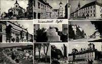 Eisenstadt Österreich Burgenland 1954 Mehrbildkarte Panorama Stadt Häuser Kirche