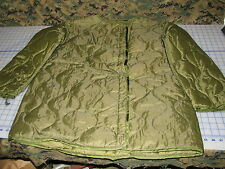 quilted parka LINER M65 military size Medium fishtail USGI NEW dated 77 vintage