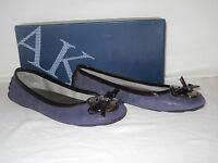 Anne Klein New Womens Bassin Purple Leather Flats 6.5 M Shoes