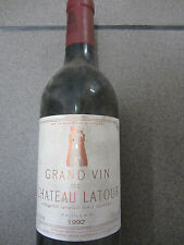 Vin Vin Rouge Chateau LATOUR Grand vin premier grand cru classe 1992