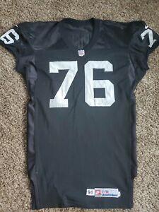 1998 Steve Wisniewski Oakland Raiders NFL Nike Team Issued Game Jersey Sz 52 LV