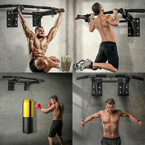 Heavy Duty Pull Up Chin Up Wall Mounted Horizontal Bar Exercise Fitness Home/Gym