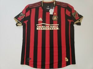 Adidas Atlanta United FC Authentic Home Jersey  Red/Black/Gold MLS Men's Size XL
