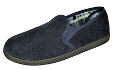Mens Corduroy Elastic Gusset Slippers NAVY size 7 **SALE**  £7  POST FREE