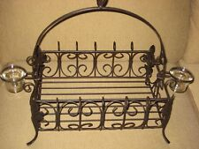 Southern Living at Home Acanthus Centerpiece/Basket Wrought Iron-Votive holder