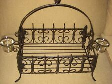 Southern Living at Home Acanthus Votive Centerpiece Wrought Iron #40411