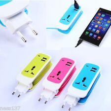 Adaptateur USB Multiprise 1,5 m International 3 en 1, 220V/110V AU US EU UK
