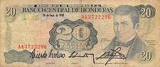 Honduras  20 Lempiras  20.9.1990  Series AA  Circulated Banknote MX8F