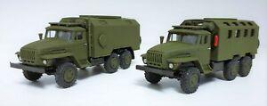2xUral-4320D mit Kofferaufbau (DDR/UdSSR) 1:87