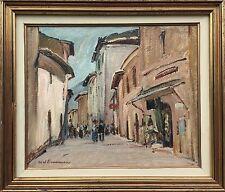 AXEL SIMONSEN (1884-1962) STRASSE IN ITALIEN ITALY ITALIA - CITY SZENE 38 X 44