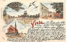 Gruss aus Vietz  Landsberg (Warthe) Güstriner Strasse Litho Postkarte 1897
