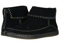 Women's Shoes UGG VARNEY Suede Moccasin Ankle Boho Booties 1104653 BLACK