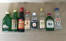 Vintage Lot Of Empty Collectable Miniature Bottles Gin Display