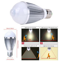 E27/E26 Infrared PIR Sensor 9W LED Night Light Bulb Auto Lamp Motion Detector