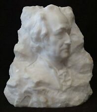 "Goethe Büste, Alabaster, Plakette ""orig. Kochendorfer (253/10249)"