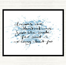 Blue White Dreams Are Illustrations Inspirational Quote Mouse Mat Pad