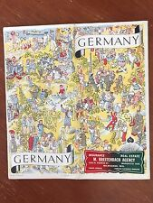 Vintage German Map 1936 Berlin Olympics Very Rare! Pre-WWII Artifact