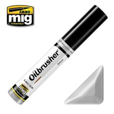 Ammo of Mig Oilbrusher Silver - Oil Paint with Fine Brush Applicator #3538