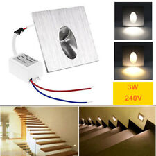 2-10Pcs LED Wall Stair Recessed Light Staircase Walkway Path Lamp Night Lighting